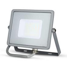 V-TAC PRO VT-30 Faro led 30W slim alluminio grigio chip Samsung SMD bianco naturale 4000K - SKU 455