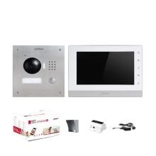 """Kit Interphone vidéo 7 """"Touch IP 2 fils Famille unique 1.3Mp 720p Dahua"""