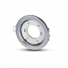 V-TAC VT-715 Plafond Rond chrome pour Spot LED GX53 - SKU 3677