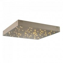 V-TAC VT-7128 8W LED designer ceiling light color changing 2in1 and dimmable square gold with remote control - sku 40301