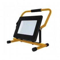V-TAC VT-42100 Faro led slim portatile con staffa e cavo di alimentazione SCHUKO bianco freddo 6400K - SKU 5932