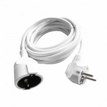 V-TAC VT-3001-5 power extension cord indoor schuko 16A EU standard cable white 5m - sku 8779