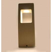 V-TAC VT-898-D lampada led da giardino 12W fissaggio a terra grigio chiaro in calcestruzzo IP65 bianco caldo 3000K - SKU 8699