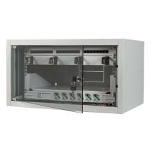 """Kit complet armoire rack 19 """"6U 400mm 24 utilisateurs Cat5e sur mur couleur gris Fanton 99902-01"""