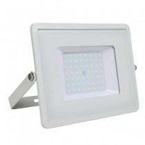 V-TAC PRO VT-56 Faro led 50W slim alluminio bianco chip Samsung SMD alta luminosità bianco freddo 6400K - SKU 763