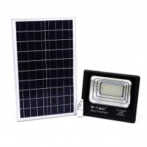 V-TAC VT-100W Projecteur solaire LED 100W avec télécommande IR blanc froid 6000K Corps noir IP65 - 94012
