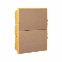 Bo� te de encastrés jaunes 24 modules DIN Line Space Bticino F315S24