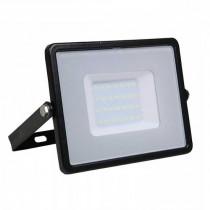 V-TAC PRO VT-30 Projecteur LED 30W slim noir Chip Samsung SMD blanc chaud 3000K - SKU 400