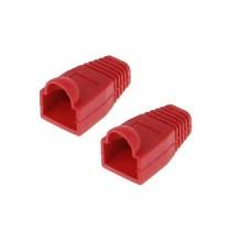 Gommini copri plugs connettori RJ-45 confezione da 10 pezzi Rosso