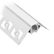 V-TAC VT-8103 Profilo in alluminio angolare a scomparsa da 2M milky cover per striscia LED - sku 3361