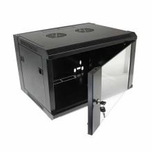 """Hanging Rack Cabinet Black RAL9004 19"""" 6U 450mm"""