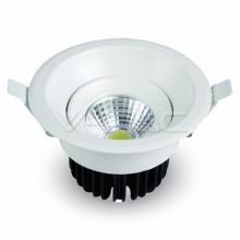 8W LED Downlight COB Rond Blanc Body 6500K - 1118