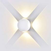 V-TAC VT-834 Lampada LED 4W da parete forma sferica bianco wall light bianco caldo 3000K IP65 - SKU 8551
