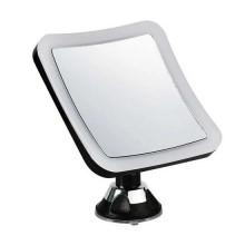 V-TAC VT-7573 Lampada specchio ingrandimento 10x con luce LED integrata 3,2W bianco freddo 6400K orientabile con ventosa di fissaggio colore nero - sku 6630