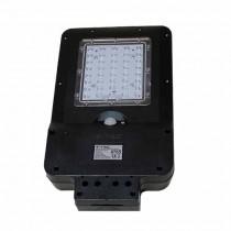 V-TAC VT-ST15 Réverbère LED 15W avec panneau solaire et sensor corps noir IP65 blanc neutre 4000K - sku 8549