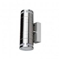 Portalampada da muro Wall Light Acciaio inossidabile 2xGU10 230V-Grigio satinato