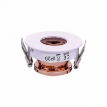 V-TAC VT-873 Portafaretto incasso rotondo orientabile bianco con interno oro rosa per lampade GU10-GU5.3 - SKU 3159