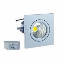 Faretto incasso LED PKW quadrato 3W 40° COB VT-1104SQ SKU 1186 luce bianco freddo