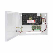 Rack switching adapter 12V DC 5A 5x1A CCTV Pulsar PSDC-05125T