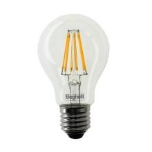 Beghelli 56402 7W Zafiro LED Bulb smd filament A60 E27 High Lumens 1000LM warm white 2700K A++