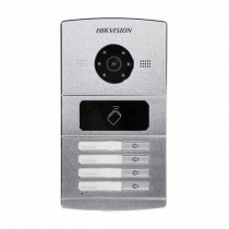 Hikvision DS-KV8402-IM Interphone video IP 4 Bouton de sonnette avec camera 1.3Mpx et lecteur de proximité mifare IP65