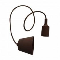 Plafond Titulaire Pendentif Ampoule E27 1M - Mod. VT-7228 SKU 3475 - Marron