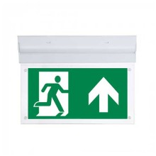 Emergency LED Exit Sign 2W 160LM V-TAC No black-out Battery 3,6V 900mAh Walls/Surface Mount inclinable IP20 VT-519 – SKU 8099