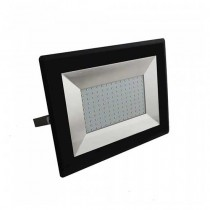 V-TAC VT-40101 projecteur led smd 100W blanc chaud 3000K E-Series ultra slim noir IP65 - SKU 5964
