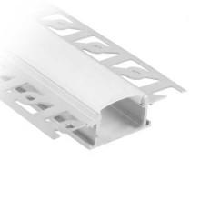 V-TAC VT-8101 Profili in alluminio da 2M milky cover per striscia LED - sku 3359