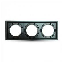 Housing Aluminum Square Adjustable for LED 3xAR111 VT-7223 - SKU 3583 BLACK