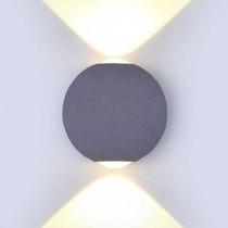 V-TAC VT-836 6W LED COB wall light warm white 3000K aluminium grey round body IP65 - SKU 8305