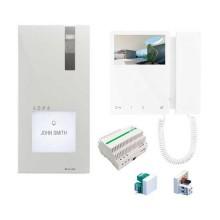 Kit Comelit 8461M Maison individuelle Quadra+Mini color Interphone vidéo