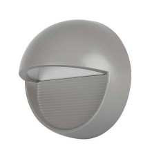 V-TAC VT-1182 3W Steplight LED warm white 3000K round grey body IP65 - SKU 1406